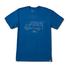 Reef Surf Tee Shirt - Expedition - Blue, Premium Sueded Crew, Screen Printed