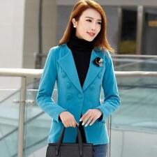 Blazer Women Factory Outlet Autumn Lady Woollen Suit Slim Double-breasted Button