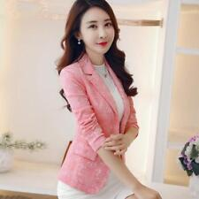 Female Blazers Outerwear Fashion Women Suits Jacket Slim One Button Long Sleeves