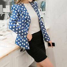 Summer Blazer Polka Dots Single Button Spring Fashion Long Sleeves Slim-Fit Suit