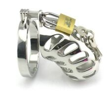 New Male Steel Chastity Device CBT Slave Gay Restraint LockDown Cuckold Cage 1