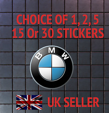 BMW LOGO STICKERS FOR Skateboard, Logos & Decals-1,2,5,15 or 30 PCS