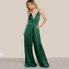 Sleeveless Jumpsuit Women Box Pleated Sexy V-neck Rompers Fall Surplice Front