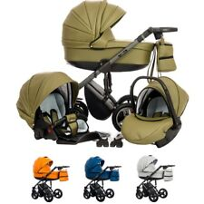 Baby Pram Pushchair Leatherette EUPHORIA Travel System 3in1 4in1 Car Seat Isofix