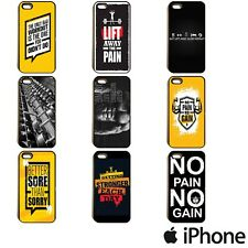 GYM WORKOUT LIFTING BODY BUILDING POWER QUOTES PHONE CASE COVER FOR APPLE iPhone