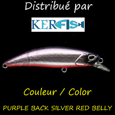 LEURRE I SINK SSO PAYO 70S (TRIPLES BBK) PURPLE BACK SILVER RED BELLY TRUITE