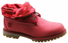 Timberland AF Original Authentics RT Roll Top Botas Para Dama Rosa Cuero 8762r