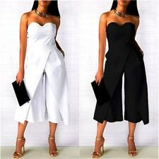 Strapless Jumpsuit Women Playsuit Party Ladies Rompers Wide Legs Pants Plus Size