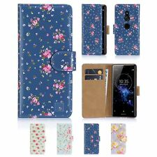 32nd Floral Series - PU Leather Design Book Wallet Case Cover - Sony Xperia XZ2