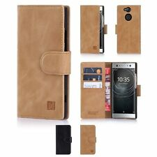 32nd Premium Series - Real Leather Book Wallet Case Cover Sony Xperia XA2 Ultra