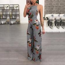 Summer Rompers New Version Women Jumpsuit Backless Strap Printed Sexy Wide Leg