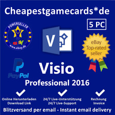 Microsoft Visio 2016 Professional 1/2/3/4/5 PC Produkt key per email
