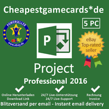 Microsoft Project 2016 Professional 1/2/3/4/5 PC Produkt Key per Email