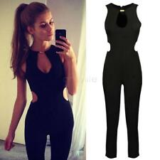Overalls Rompers Women Jumpsuit Fashion Solid Color Sleeveless Backless Simple