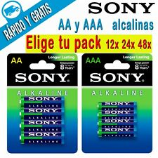 PILAS ALCALINAS AA y AAA SONY LR6 LR3 1.5V ALKALINE ALKALINAS BLISTER ECO PACK