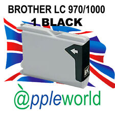 1 NEGRO CARTUCHO de tinta compatible con LC970 / LC1000 [not Brother original]