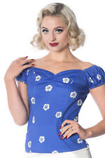 Banned Tutti Fruity Flower 1950S Vintage Style Top
