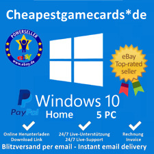 Microsoft Windows 10 Home OEM Win 10 Home 1/2/3/4/5 PC Produkt Key per Email