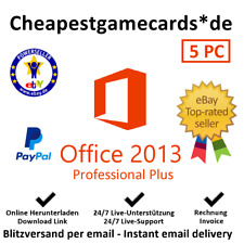 Microsoft Office 2013 Professional Plus 1/2/3/4/5 PC Produkt Key per Email