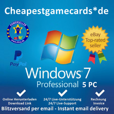 MS Windows 7 Pro/Ultimate/Home Premium OEM 1/2/3/4/5 PC Produkt Key per Email