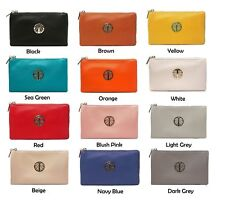 L&S Small Crossbody Clutch Bag Handbag with Detachable Long Strap and Wristlet