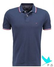 100% Authentic Polo TOMMY HILFIGER Slim Fit Polo camisa HOMBRES – AZUL MARINO–