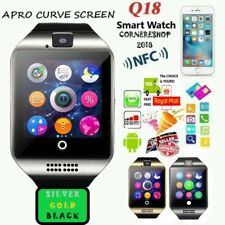 UK Apro Q18 Smart Watch Silver Bluetooth TF Camera MP3 SIM For iOS Android NEW
