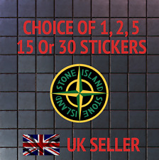 STONE ISLAND BRAND LOGO 12 STICKERS FOR iPHONE, iPAD,LAPTOP - 12 PER A4 SHEET