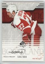 2003-04 SP Authentic 130 Darryl Bootland Detroit Red Wings RC Rookie Hockey Card