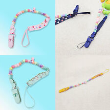 Baby Infant Chain Clip Holder Dummy Pacifier Soother Nipple Leash Beads Strap