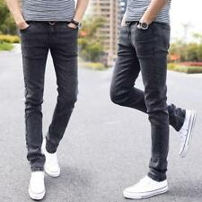 Fashion Jeans Elastic Casual Straight Skinny Slim Fit Pants Tapered High Waist