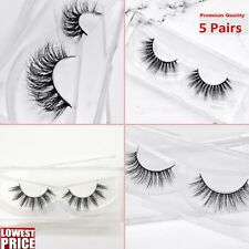 5 Pairs Eyelashes Long Natural Thick Handmade 3D Fake False Eye Lashes Set of 5