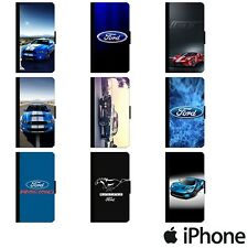 FORD LOGO MUSTANG GT ST RS FOCUS FLIP WALLET PHONE CASE COVER APPLE iPhone