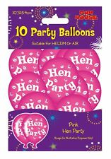 Adults Hen Party Printed Fancy Balloons Party Decoration Accessory Pack of 10