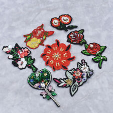 2x Sequins Flowers Patches Applique Embroidery Sewing On Clothing Bags Decor DIY