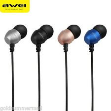 Awei ES - Q8 Spinotto 3.5mm mm Stereo Music PROFONDO BASSO Auricolari In-Ear