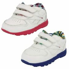 Infant Boys Girls Hook & Loop Leather Reebok Trainers Versa