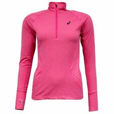 Asics MotionDry Long Sleeve 1/2 Zip Womens Pink Track Top 124776 0294 P4