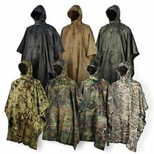 Ripstop Poncho Personal Shelter Half Wet Weather Hood W/Drawstring Carry Pouch