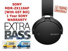 100% Original Sony MDR-ZX110AP On-Ear Stereo Headphones with Mic- 1 Year Warrany