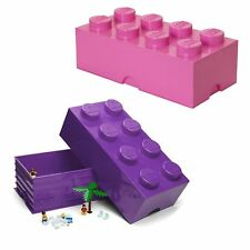 Lego Storage Brick 8 Knob Lego Friends In Purple OR Pink Lego Container NEW