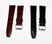 IWC- 20mm 22mm BLACK/BROWN GENUINE  LEATHER WATCH BAND STRAP FOR IWC WATCH