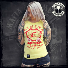 ••• MAFIA & CRIME Girls Shirt gelb // SIN AND CRIME // XS-XXL // Neuware