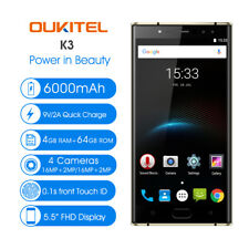 "OUKITEL K3 5.5"" UE 4 CAMS 13mp Android 7 4g Smartphone Octa-core 4g+64gb"