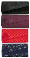 Ruby Shoo Oxford Clutch Bag Black Red Navy Brocade Burgundy Lace Charlotte