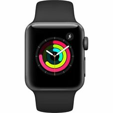 Apple Watch Series 3 38mm Smartwatch GPS ONLY Space Gray Aluminum Case
