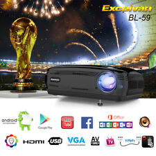 LED Proyector 6000Lumens HD 1080P 3D WiFi Android6.0 BT 1+8G ATV Home Cinema New