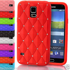 SILICONE SOUPLE Diamant Bling Coque rhineston Housse pour Samsung Galaxy S5