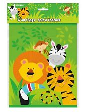 Animal Zoo Safari Loot Bag Pack of 8 Kids Birthday Party Decoration Accessory