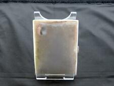 Antique George VI Plain Silver Cigarette Case, Birmingham, J.H.W, Circa 1937-38